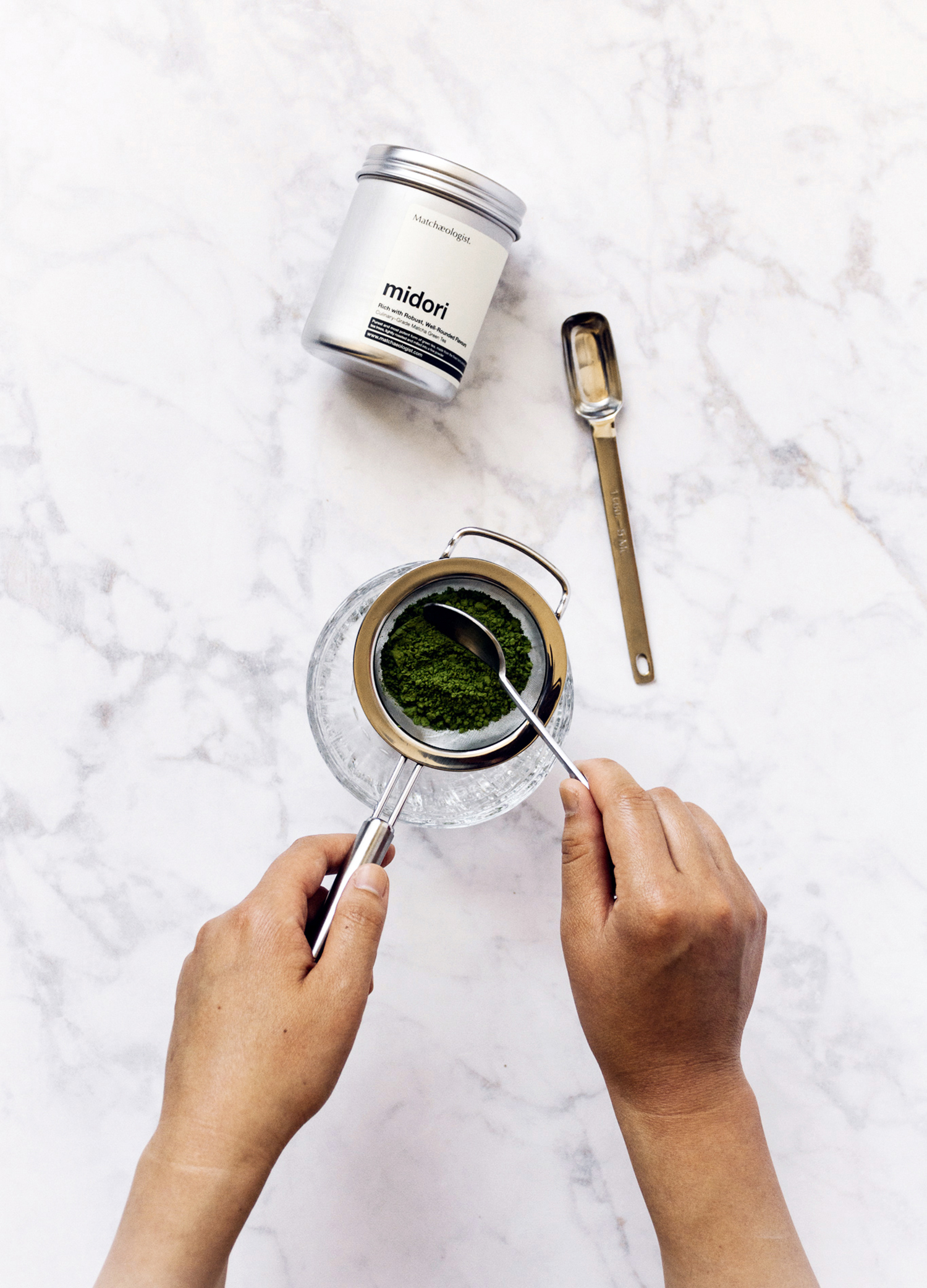 Sifting matcha is my favorite thing.
